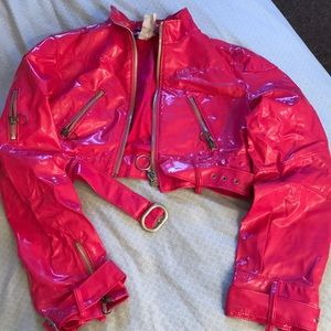 Miss sixty patent leather crop jacket